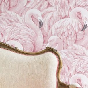 Lucy-in-the-sky-flamingo-tapeten