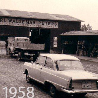 Alte Fotoaufnahme 1958 Unternehmensgeschichte kwp Baumarkt