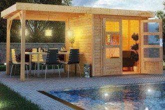 Karibu Gartenhaus Lodge Detmold bei kwp Baumarkt