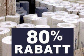kwp Baumarkt Lagerverkauf Tapetenrollen 80% günstiger