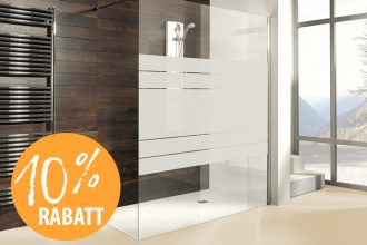 10% rabatt auf alle Duschkabinen kwp Baumarkt