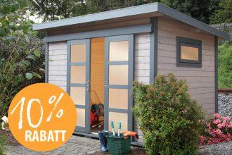 10% Rabatt auf alle Gartenhäuser bis zum 31.3.2017 bei Kwp Baumarkt