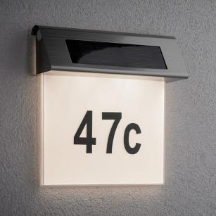 Hausnummernleuchte solar