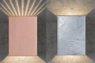 Nordlux Wandleuchte Fold in Kupfer und Zink