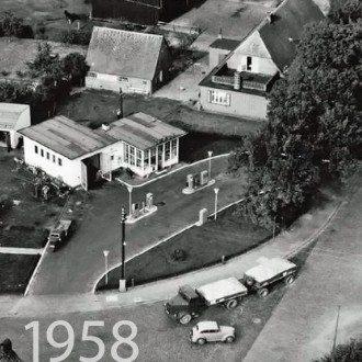 Luftaufnahme von 1958 - Baseler Damm Ecke Saseler Chaussee 211 kwp Baumarkt