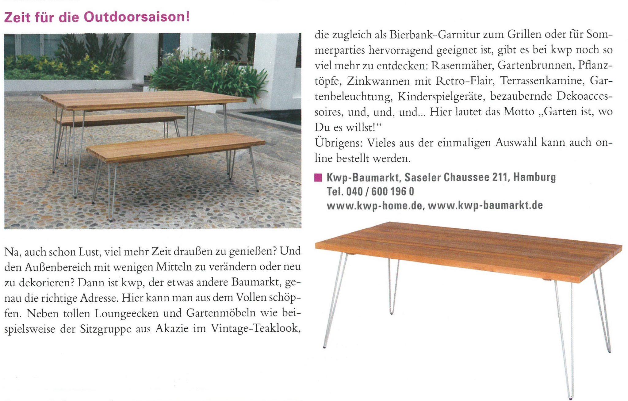lebensart magazin kwp baumarkt. Black Bedroom Furniture Sets. Home Design Ideas