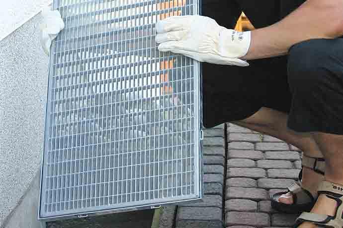 Insekten-Schutz-Netz Lichtschachtabdeckung