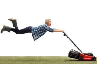 Was macht das Rasenmähen leicht und bequem
