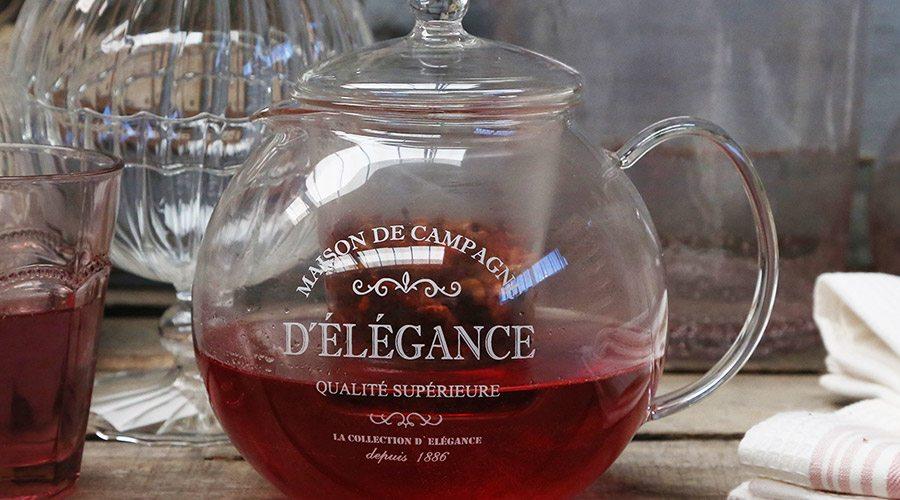 Chic Antique Teekanne im französischem Vintage-Look