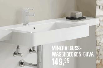 Mineralguss-Waschbecken Cuva günstig