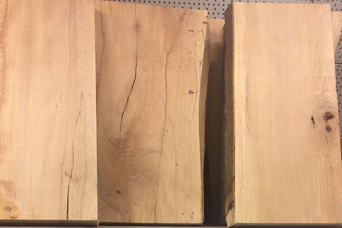 Naturholz Regalbrett aus Eiche oder Buche