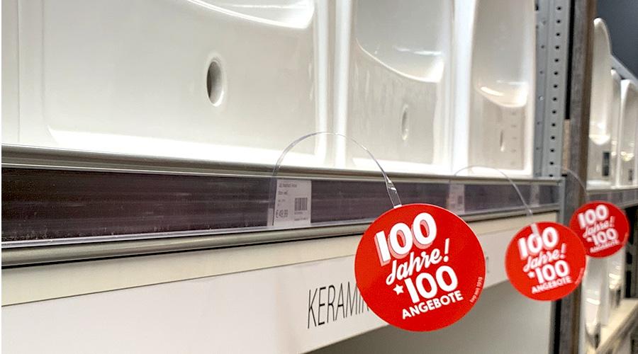 100 Jahre 100 Angebote bei kwp