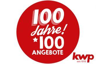 kwp wird 100 Jahre alt und feiert sein Jubiläum mit 100 Angeboten