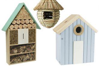 Insektenhotels und Vogelhäuser