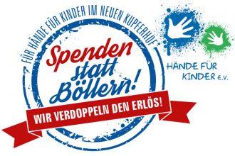 Spenden statt Böllern für Hände für Kinder Kupferhof Hamburg